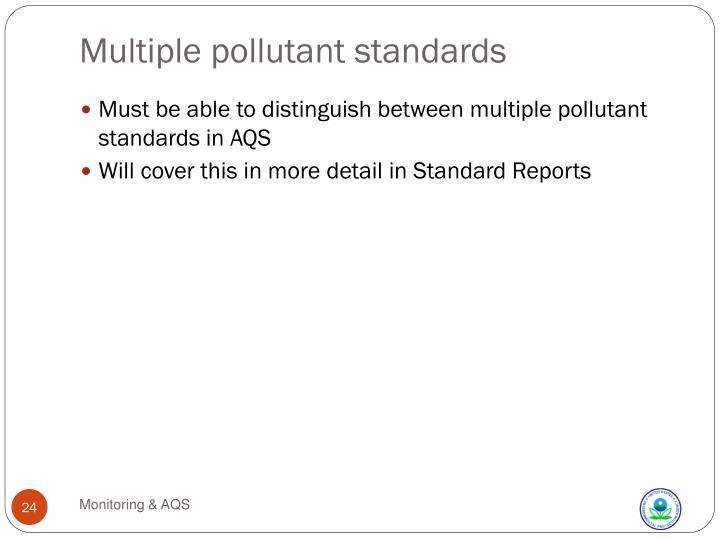 Multiple pollutant standards