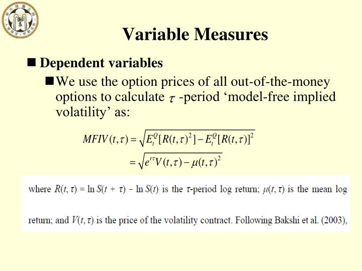 Variable Measures