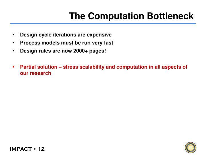 The Computation Bottleneck