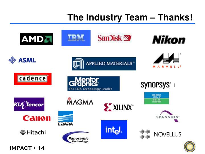 The Industry Team – Thanks!