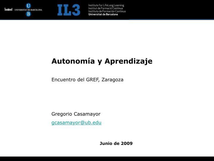 Autonomía y Aprendizaje