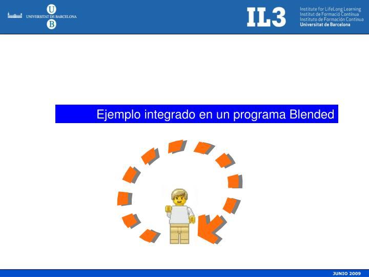 Ejemplo integrado en un programa Blended