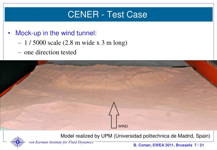 CENER - Test Case