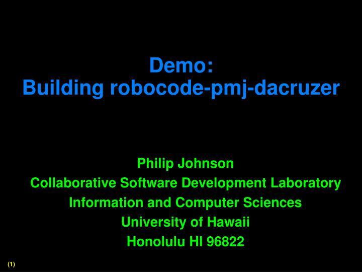 Demo building robocode pmj dacruzer