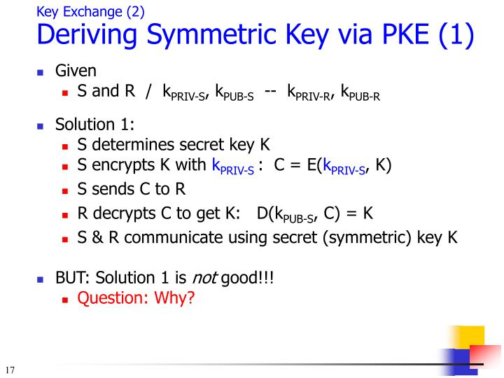 Key Exchange (2)