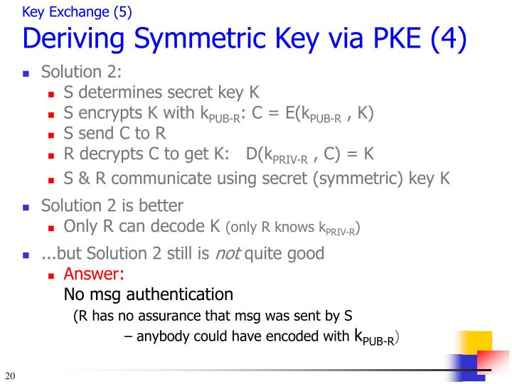 Key Exchange (5)