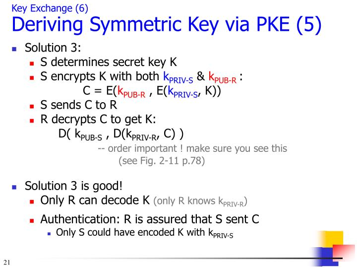 Key Exchange (6)