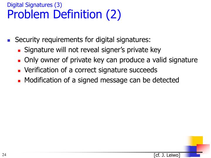 Digital Signatures (3)