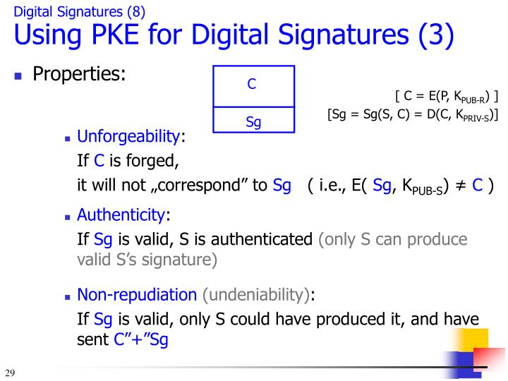 Digital Signatures (8)