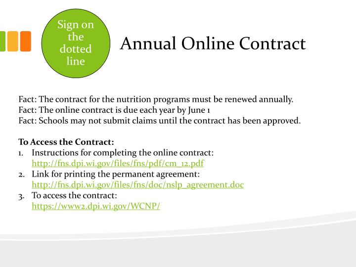 Annual Online Contract