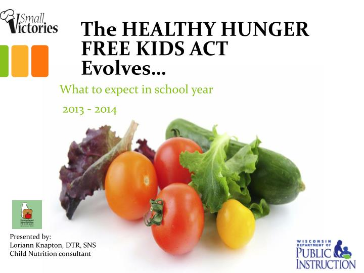 The healthy hunger free kids act evolves
