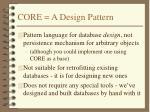 core a design pattern