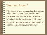 structural aspect