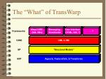 the what of transwarp