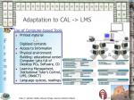 adaptation to cal lms