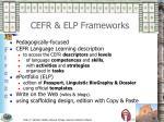 cefr elp frameworks