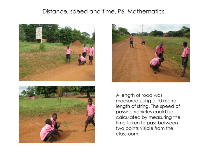 Distance, speed and time, P6, Mathematics