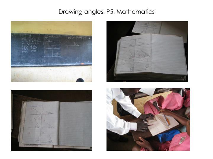 Drawing angles, P5, Mathematics