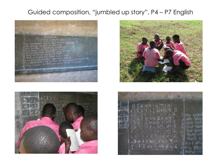 """Guided composition, """"jumbled up story"""", P4 – P7 English"""