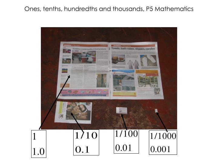 Ones, tenths, hundredths and thousands, P5 Mathematics