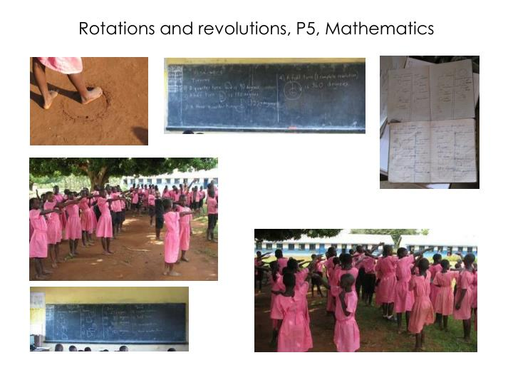 Rotations and revolutions, P5, Mathematics