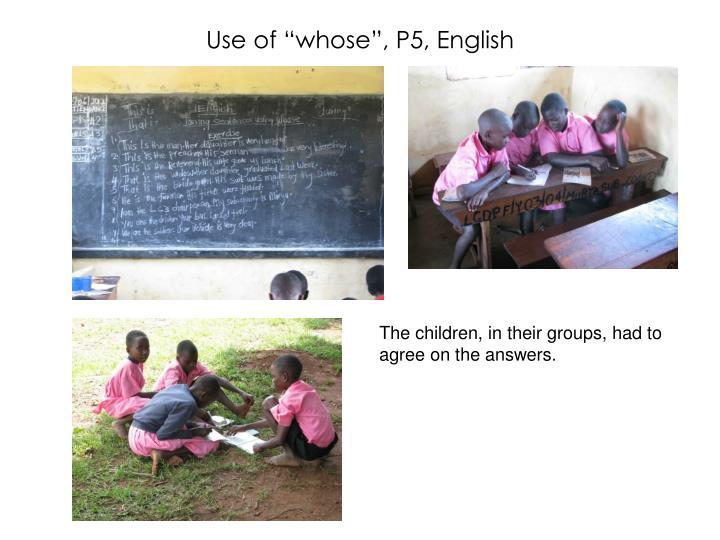 "Use of ""whose"", P5, English"