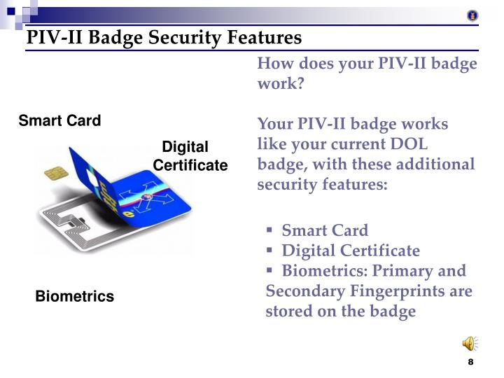 PIV-II Badge Security Features
