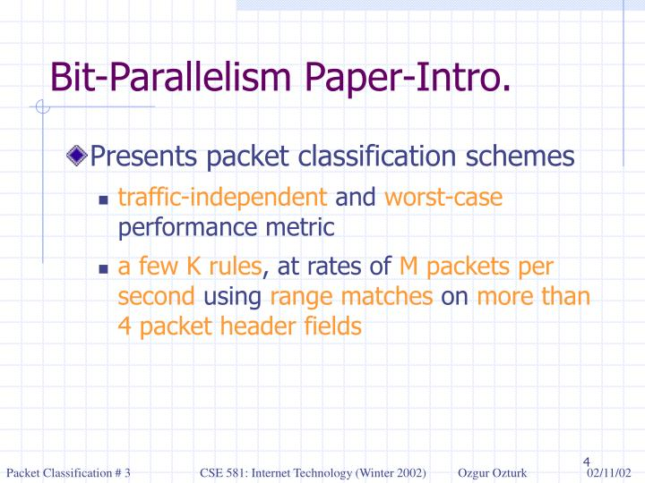 Bit-Parallelism Paper-Intro.