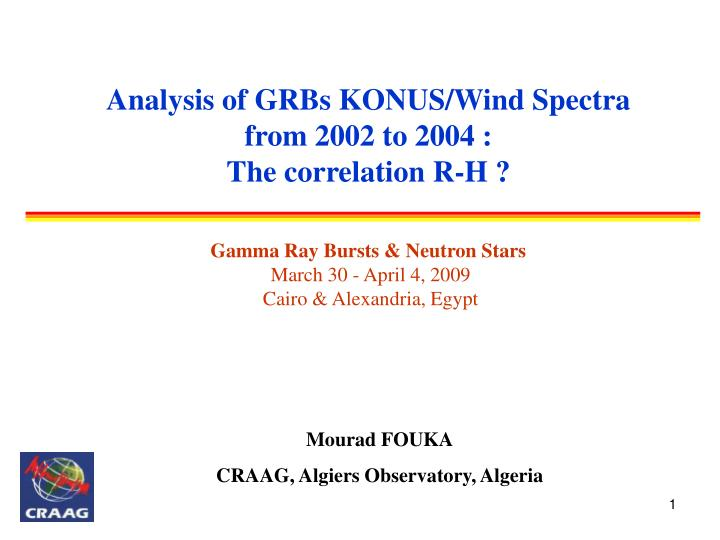 Analysis of GRBs KONUS/Wind Spectra from 2002 to 2004 :