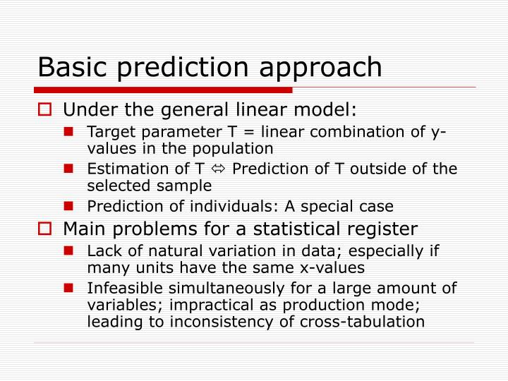 Basic prediction approach