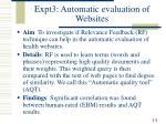 expt3 automatic evaluation of websites