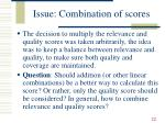issue combination of scores