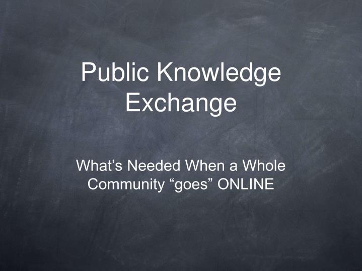 Public knowledge exchange