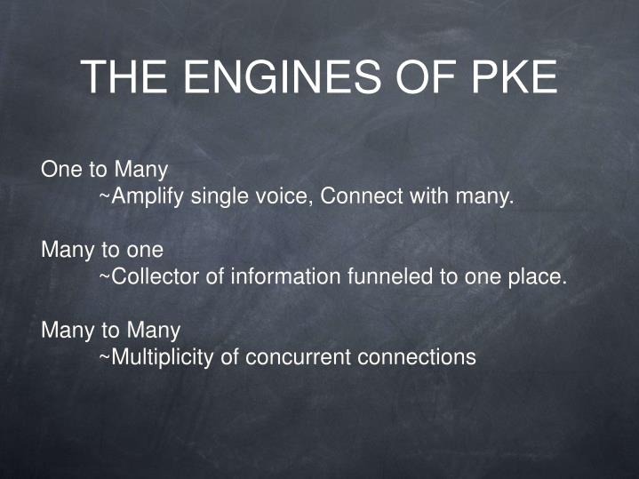 THE ENGINES OF PKE
