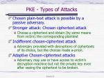 pke types of attacks