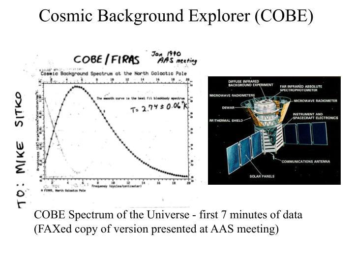 Cosmic Background Explorer (COBE)