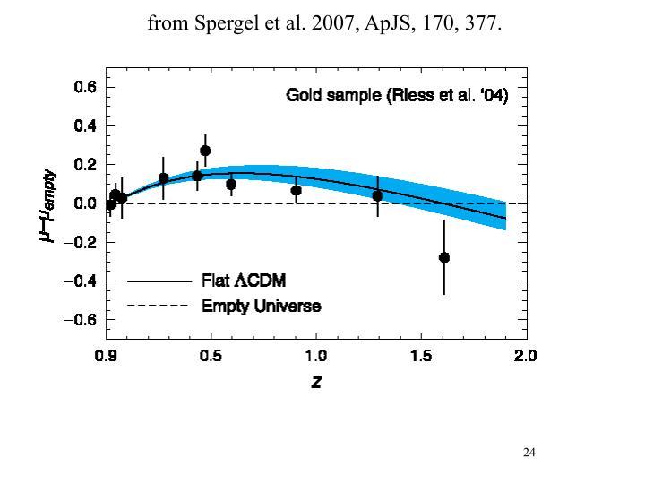 from Spergel et al. 2007, ApJS, 170, 377.