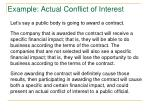 example actual conflict of interest