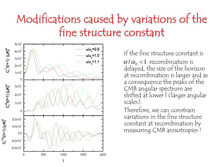 If the fine structure constant is