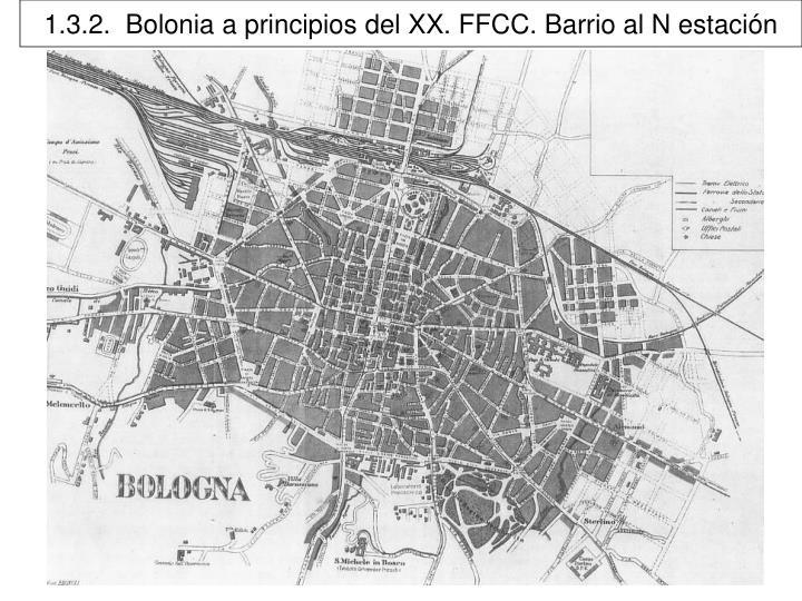 1.3.2.  Bolonia a principios del XX. FFCC. Barrio al N estación