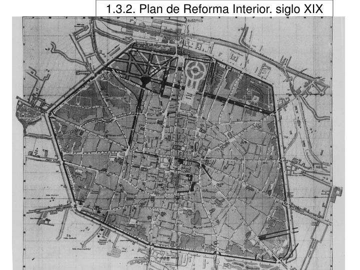 1.3.2. Plan de Reforma Interior. siglo XIX
