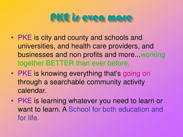 PKE is even more