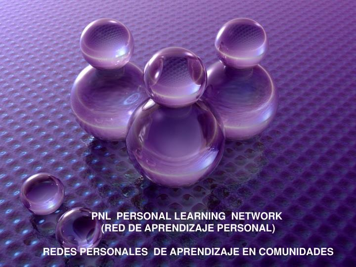 PNL  PERSONAL LEARNING  NETWORK