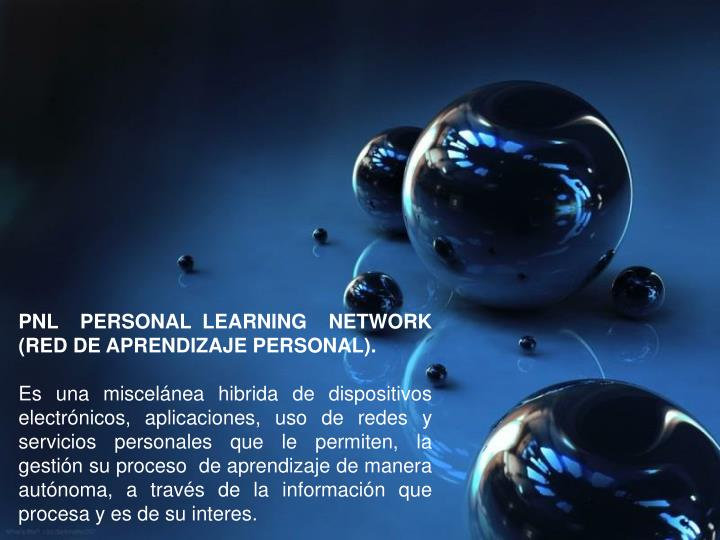 PNL  PERSONAL LEARNING  NETWORK (