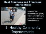 1 healthy community improvements