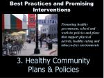 3 healthy community plans policies