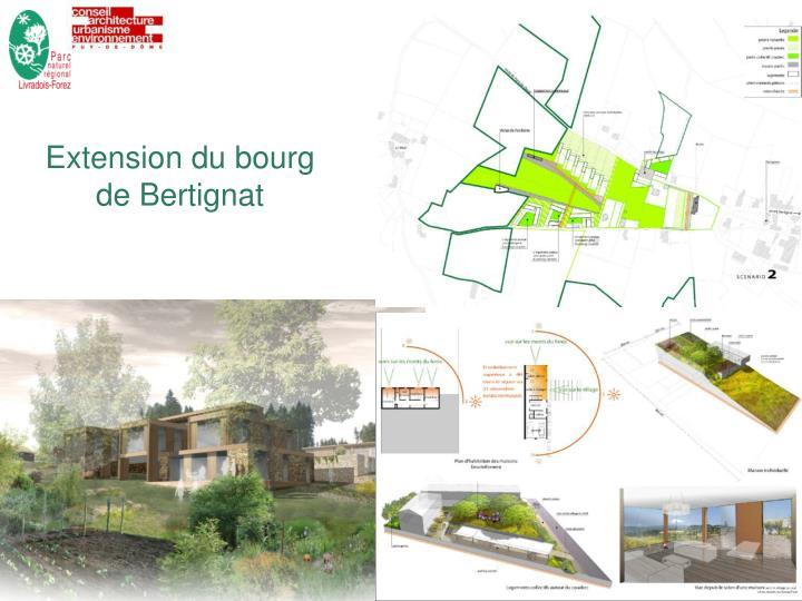 Extension du bourg