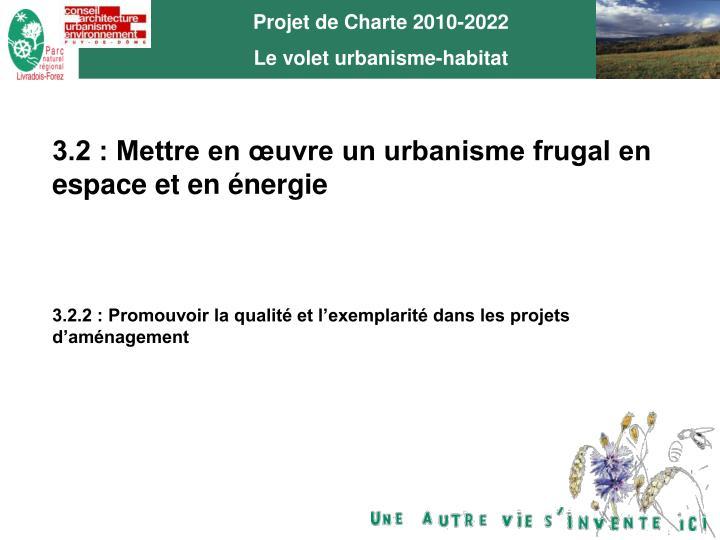 Projet de Charte 2010-2022