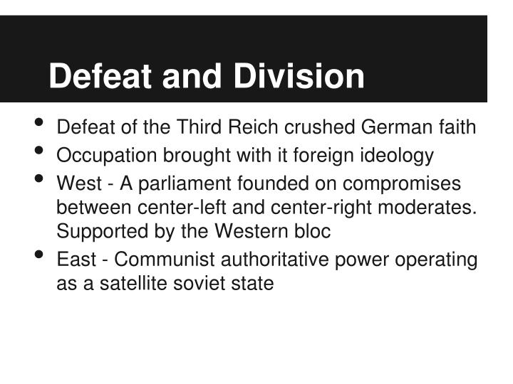 Defeat and Division