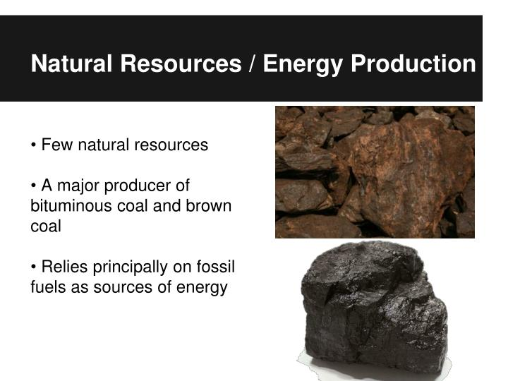 Natural Resources / Energy Production
